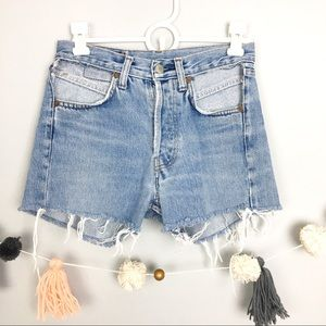 LEVIS // 501 Cut off distressed shorts